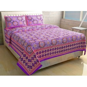 Purple Border Bedsheet