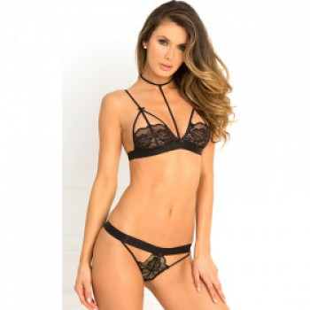 Half Cups Bra and Panty Set 28374-1