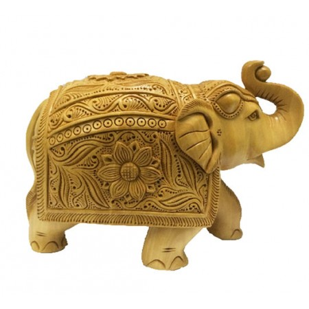 Elephant Handicraft Wooden Show Pi