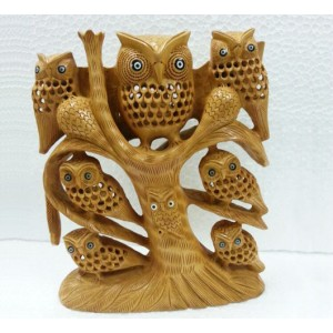 Wooden Owl Set